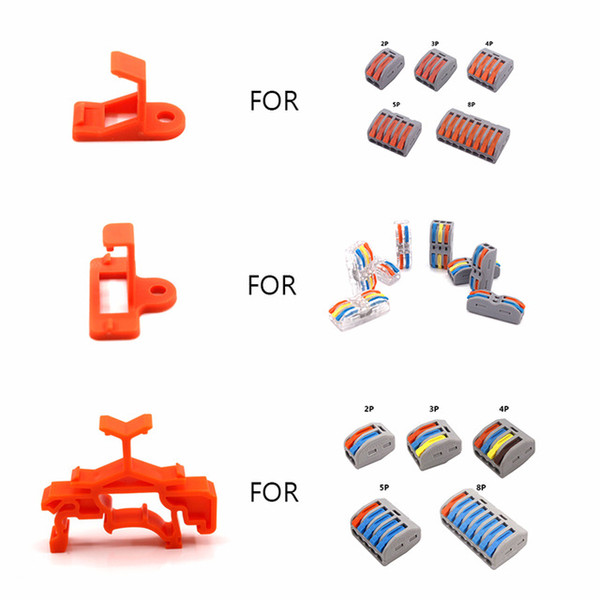 Cheap Connectors Wire Connector Support Mount 10 30 50 100 Quick Cable Connectors Conductor Terminal Block Conector Fixing Base Accessories