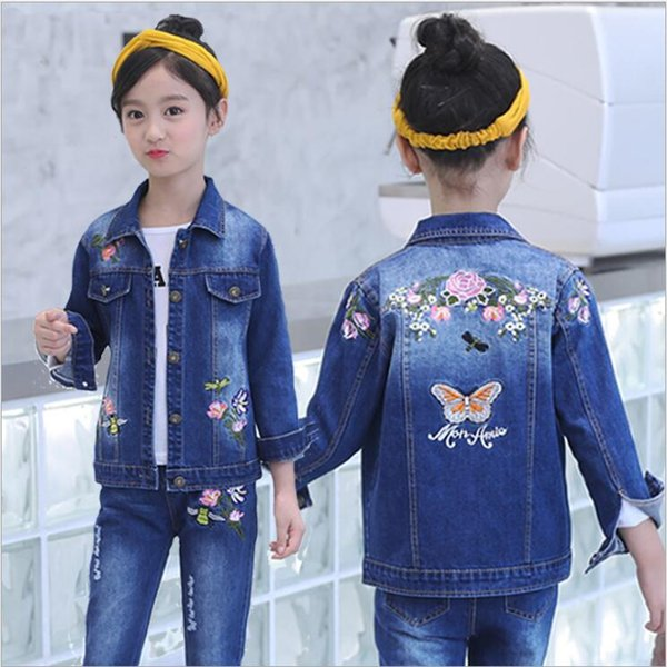 embroidery flower two piece
