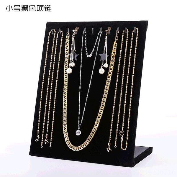 10 Adhesive Haken Black Velvet Halskette B