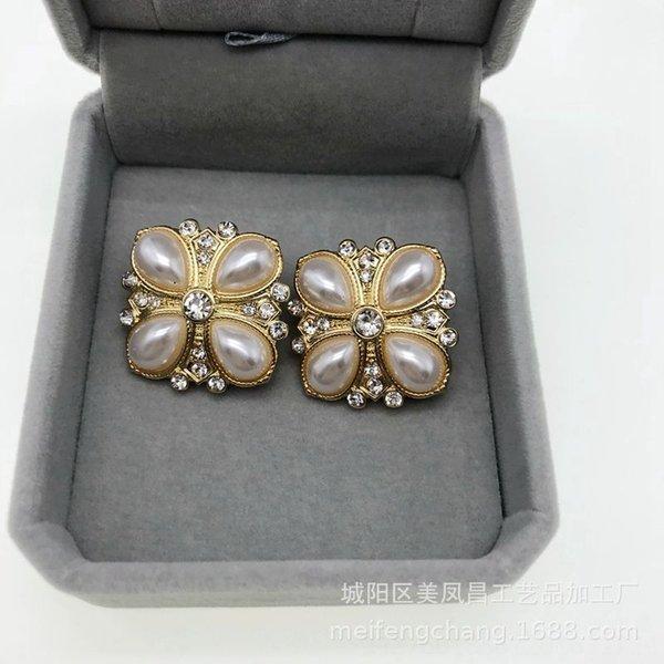 Diamond Pearl Clip à oreille