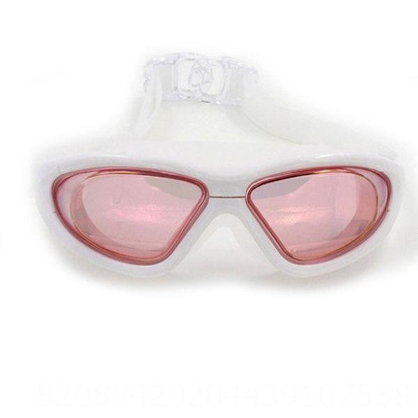 Swimming Goggles-white Frame Powder