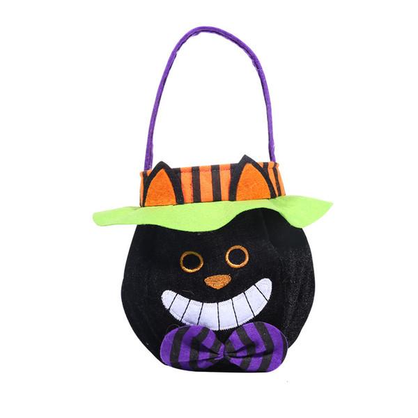 Schwarze Katzen-Art-runde Handtasche mit Hut