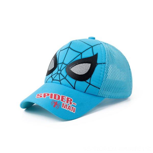 Hombre azul del pavo real de la araña