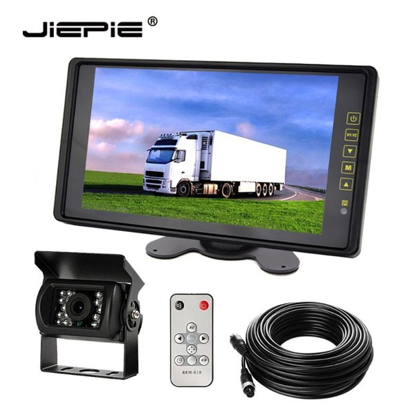 best selling JIEPIE Backup Rear View Camera System 9''Rear view mirror monitor with IR Waterproof Rear Camera Kit for Trailer,Trucks,Bus car