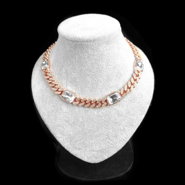 50cm + Rose Gold + White gems