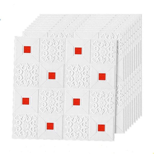bianco rosso-10pcs70x70x0.3cm