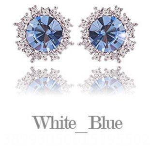 Revestimiento de platino (circón azul) -925 Silve