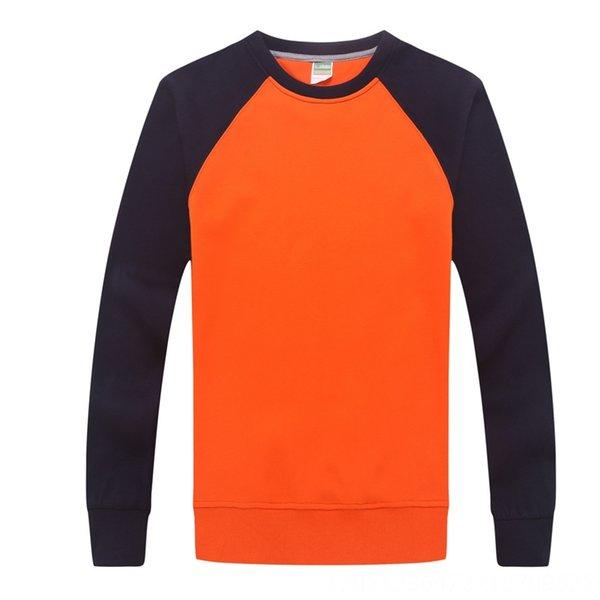 Arancio con maniche nere