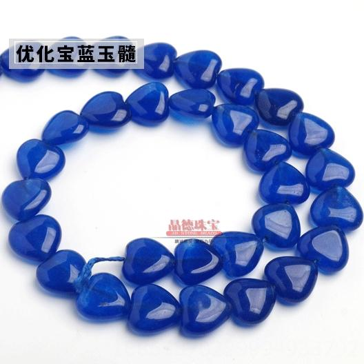 990-халцедон персик сердца Sapphire Blue