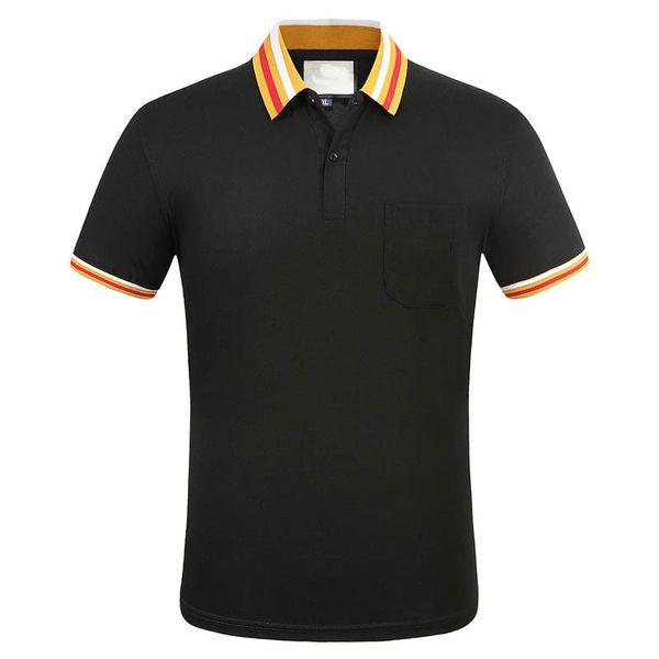 top popular Luxury fashion classic men's embroidery shirt cotton mens designer T-shirt white black designer polo shirt male M-3XL 2021