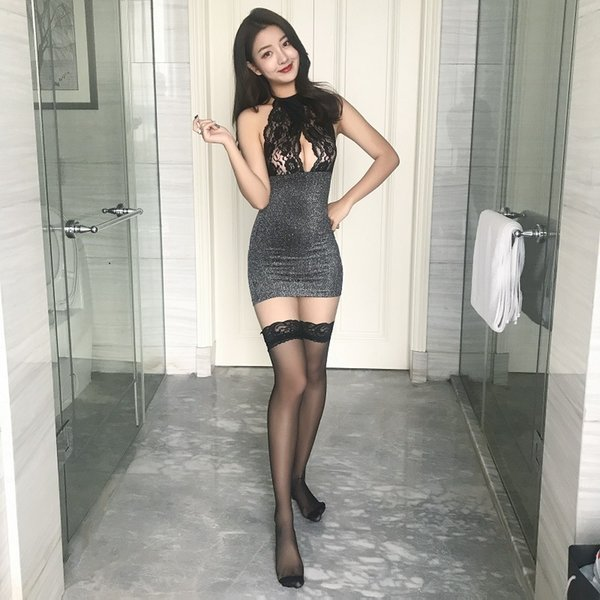 Schwarz + Lace Strümpfe