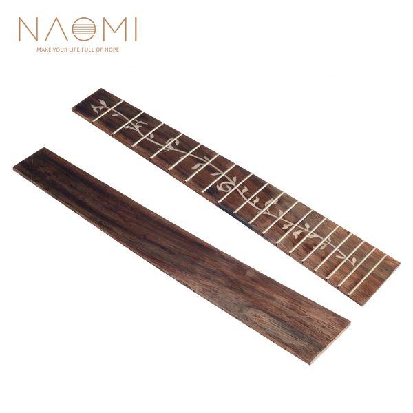 top popular NAOMI Ukulele Fretboard 26 Inch Rosewood Uku Fingerboard DIY Replacement 2021