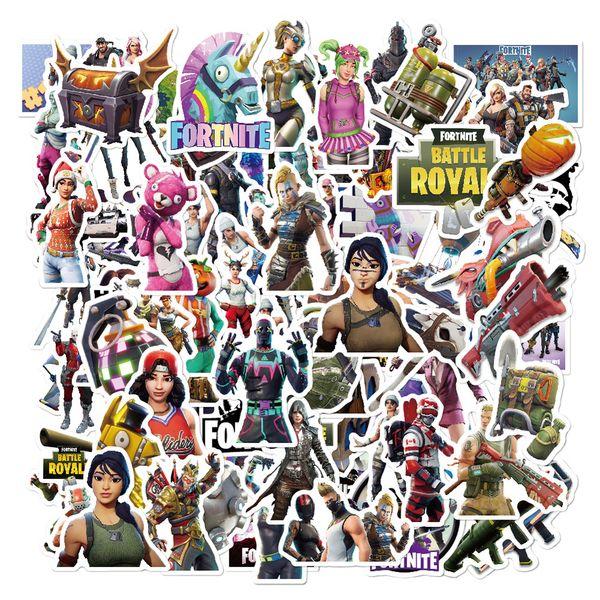 top popular 104pcs Lot Game Stickers DIY Toy Luggage Motor Car Suitcase Laptop Skateboard Graffiti Waterproof Cartoon Gaming Stickers 2021