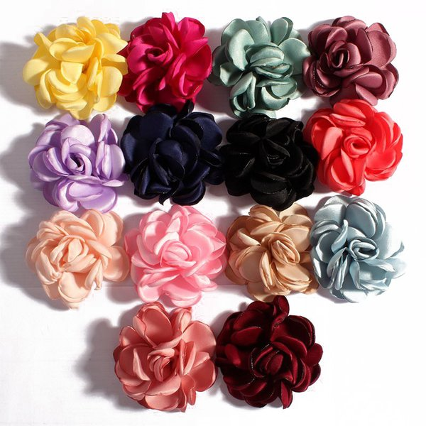 best selling 6cm Fashion Burned Artificial Rose Camellia Vintage Fabric Flowers For Hair Band Headband Wedding Decoration