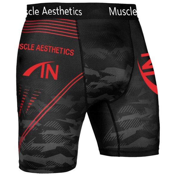 Pantalones cortos rojos negros