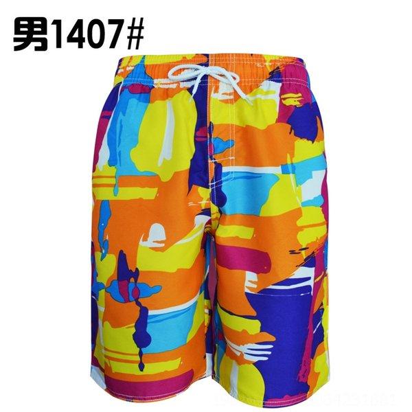 K1407 pantalones de la playa de los hombres