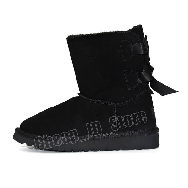 2 Ankle Bailey Bow - Schwarz