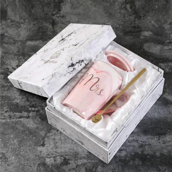 뚜껑 숟가락 선물 상자 핑크 컵 라인