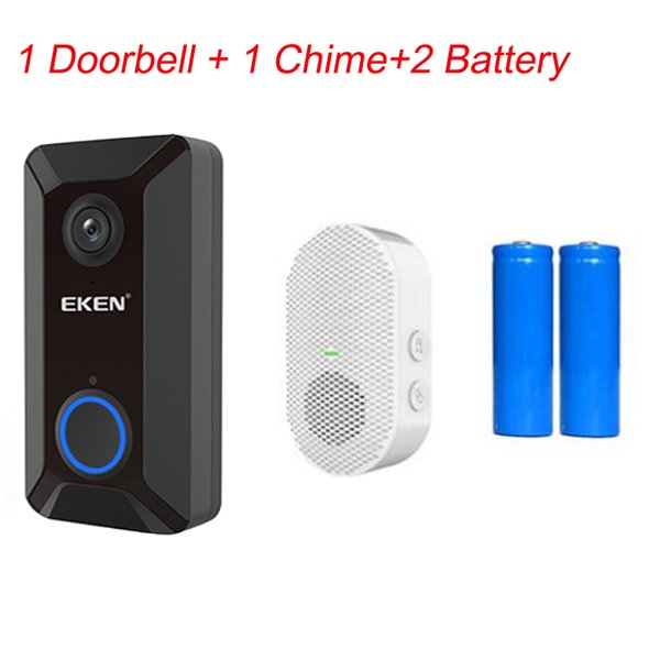 1 doorbell+1 Chime+2 Battery