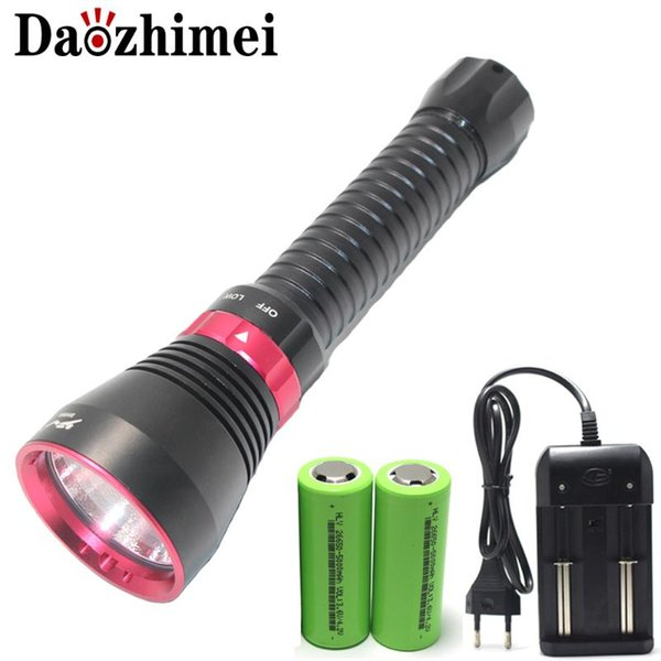 new professional xhp70.2 led diving yellow light / white light torch 100m depth scuba underwater waterproof lamp
