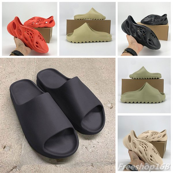 top popular New Slide Form Runner Shoes Men Women bone desert sand resin Ararat sandal soot core triple black total orange outdoor sandals With Box 2021