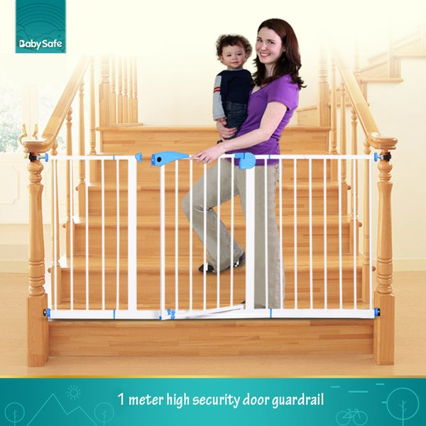 best selling Free ship babysafe metal iron gate baby safety gate pet isolation fence 75-82cm width
