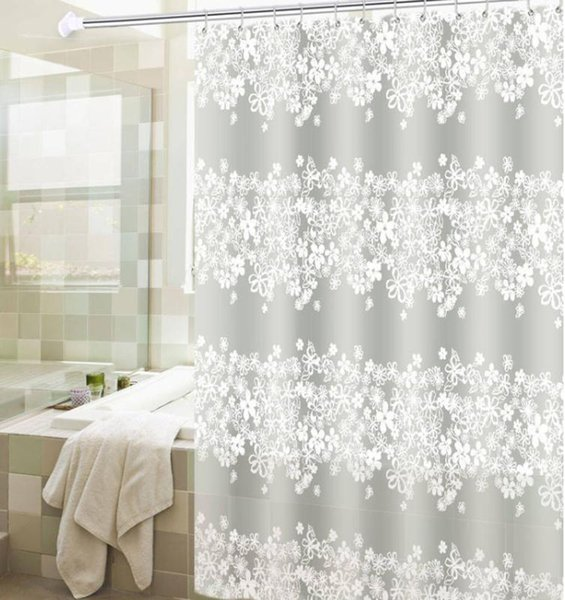 new waterproof flower peva shower curtain bath curtains bathroom for bathtub bathing cover liner transparent mildew yc