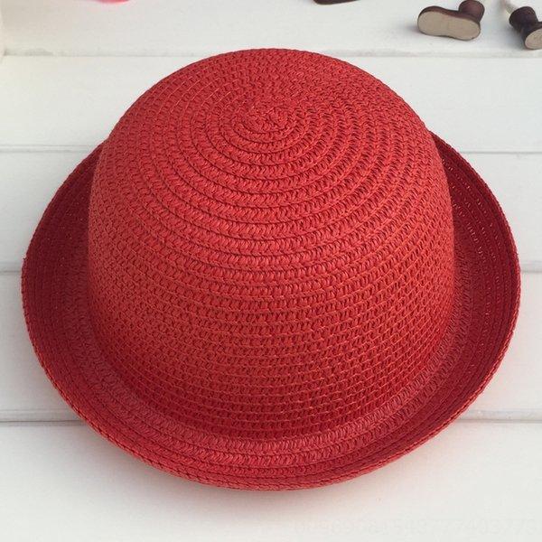 Cabeza C210 pequeñas y redondas sombrero blanco Rojo