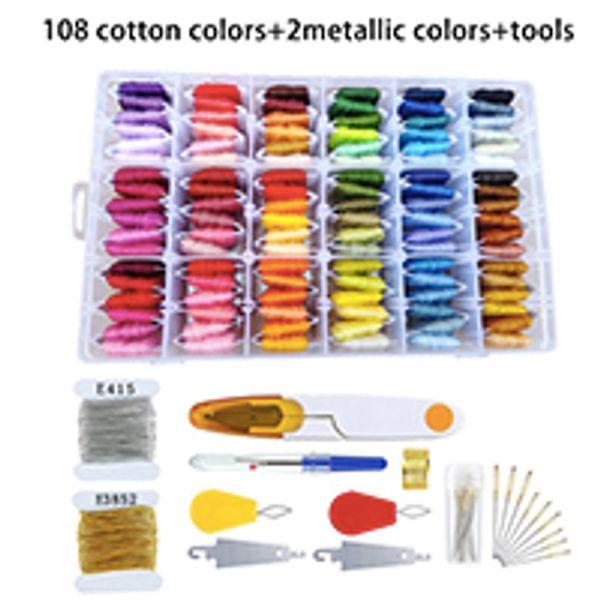 108 cottons+2metallics+tools