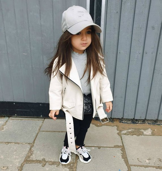 top popular 2020 Children Autumn Winter Jacket Toddler Kids PU Leather Coat Baby Boys Girls Short Children Zipper Sleeve Coats Outwear Sale Y200831 2021