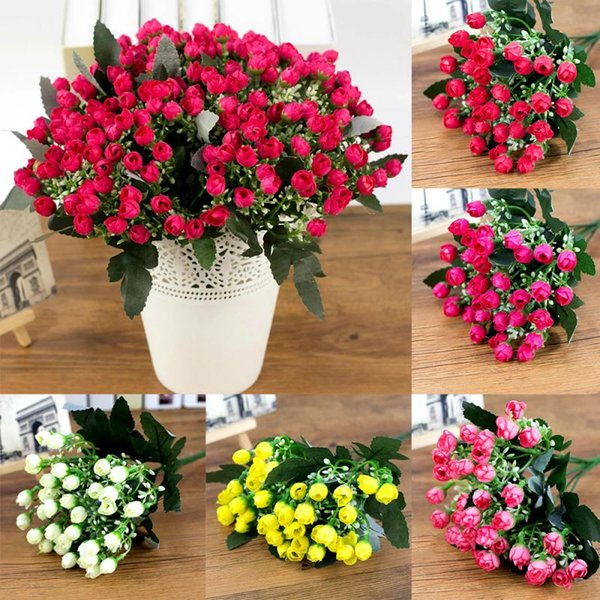 36 heads / branch artificial flowers silk fake flowers pens party home decor