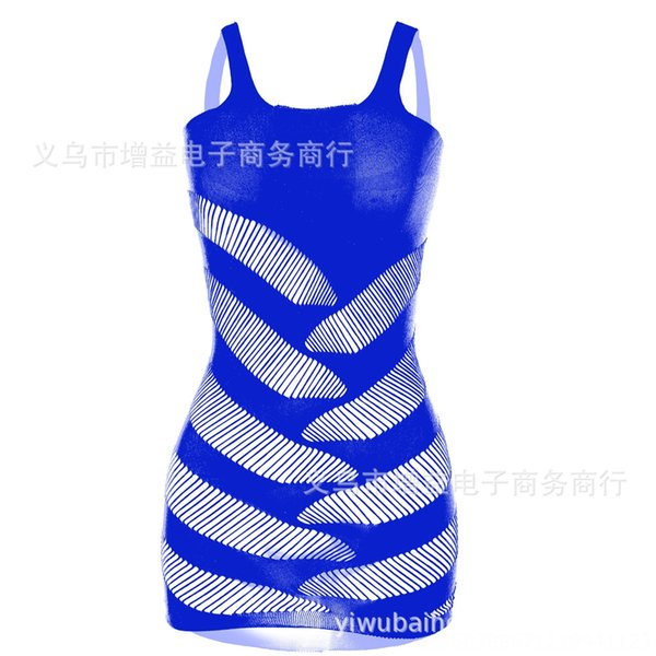 Sapphire Blue-Dimensione media semplice Outfit