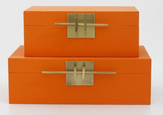 Оранжевый Plain Pattern-Big Box