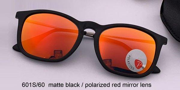 lente espejo negro mate / rojo polarizado