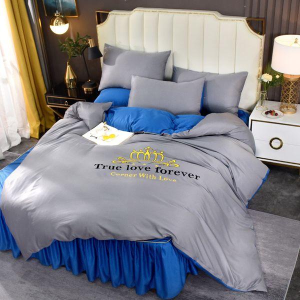 Серый х Sapphire Blue-1,5-кровать