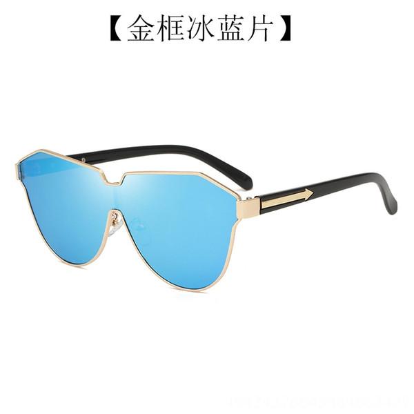 Gold Frame Ice Blue Slice-C06z-2-c709