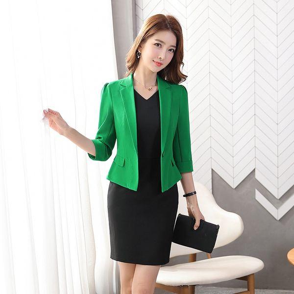 Chaqueta Verde + falda