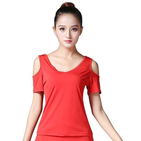 Red Short Sleeve V-Ausschnitt