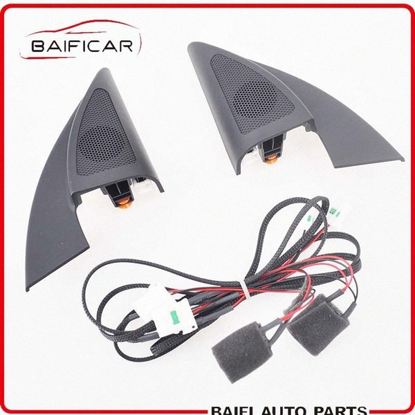 top popular Baificar New Genuine Triangle Head Tweeter Speakers Car Audio Trumpet Speakers Tweeter With Wire For 2017 Kia K2 RIO BC4z# 2021