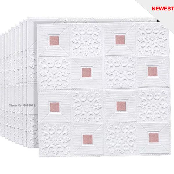 rosa bianco-3pcs70x70cmx 0,3 centimetri
