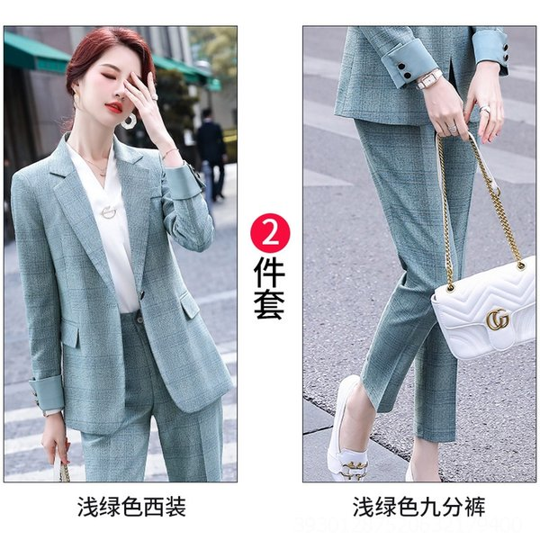 Light Green Suit + Women # 039; s Hosen