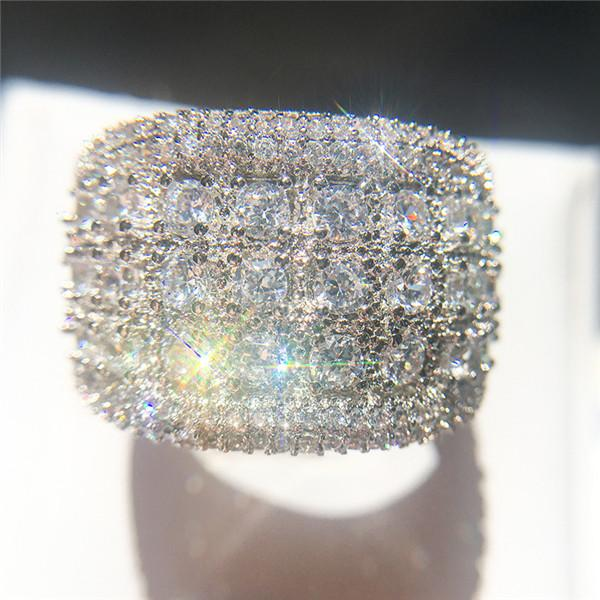 best selling New Fashion Zircon Mens Diamond Rings High Quality Engagement Rings For Women Silver Wedding Ring Jewelry