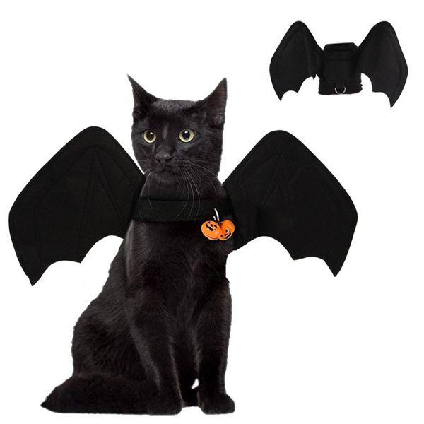 الأسود الخفافيش الملابس مع جرس