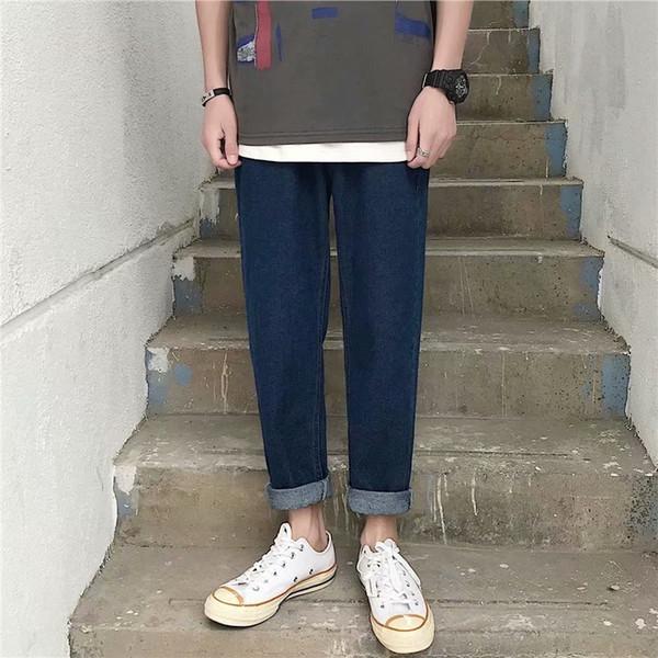 810 Deep Blue Jeans mit geradem Schnitt
