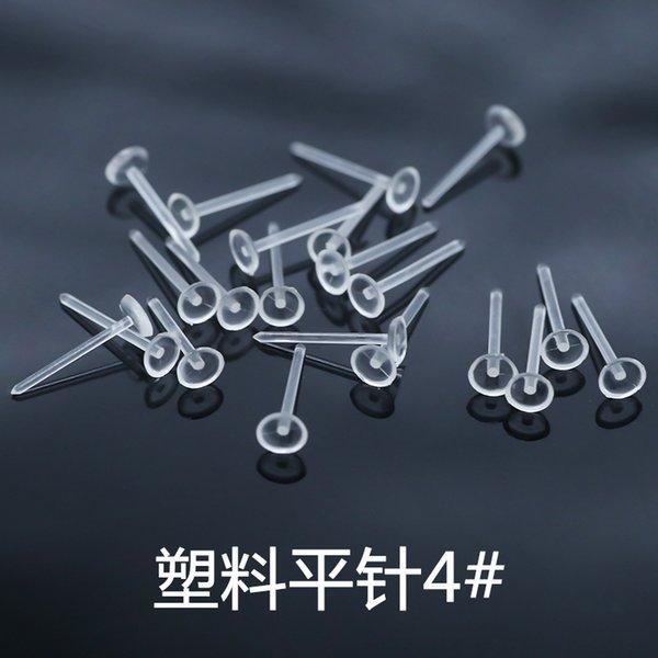 4 # plastico piatto Needle (10.000 per confezione)