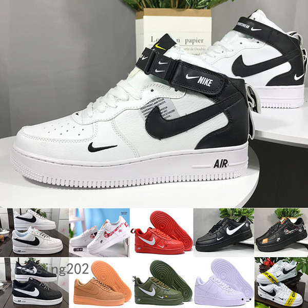 with box one 1 dunk running shoes for men women black white pink mens sneakers ones high low cut wheat brown sports trainers typ3w
