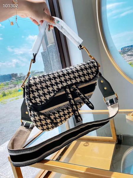 best selling 2020 new famous brand ladies bag saddle retro high quality saddle messenger bag handbag star celebrity inspiration embroidery shoulder bag2