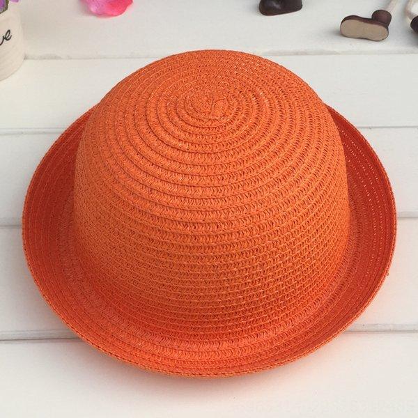 Cabeza C210 pequeñas y redondas Sombrero Orange en blanco