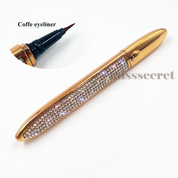 Diamant avec eye-liner coffe