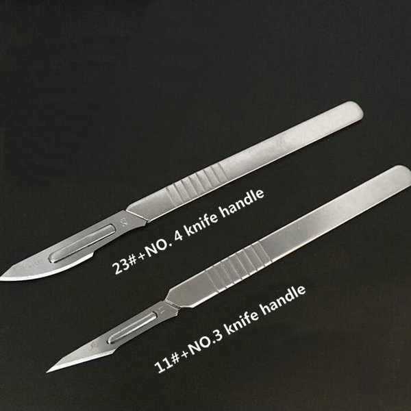 top popular 11pcs set Disposable Sterile Animal Scalpel Knife, Stainless steel hilt, Multi-function Tools(10pcs Blades with 1 hilt) 2021